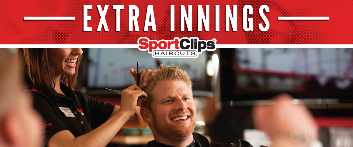 The Sport Clips Haircuts of Schererville Extra Innings Offerings